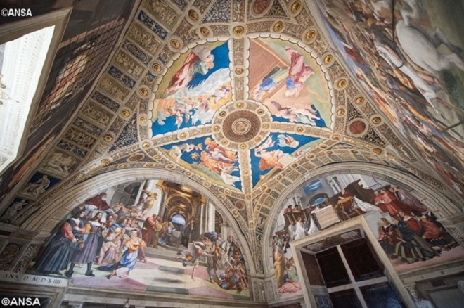 Museus Vaticanos: restauração revela duas pinturas inéditas de Rafael