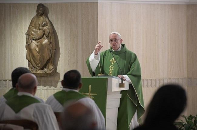 """Papa: """"Um coração rígido não entende a misericórdia de Deus"""""""