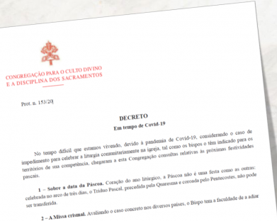 CNBB divulga tradução do decreto da Congregação para o Culto Divino sobre a Semana Santa