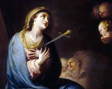 Estava a Mãe Dolorosa de pé diante da Paixão de Cristo